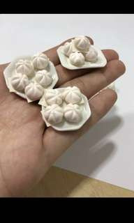 Handmade Miniature Buns $3.50 for 3 buns on plate. From Clay.