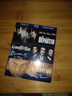 Blu ray, 3in1, The departed, goodfellas n the Aviator, brand new