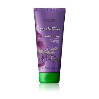 love nature body lotion relaxing lavender