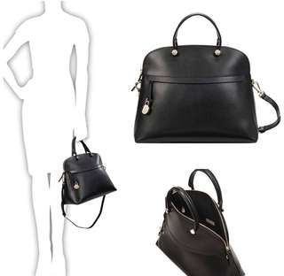 FURLA PIPER DOME LARGE 34.5x29x15.5CM ONYX