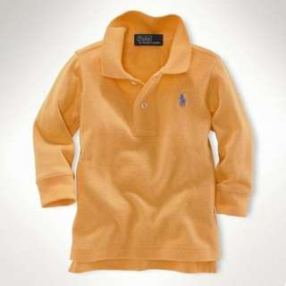Ralph Lauren Boys Collar Long Sleeve - Orange