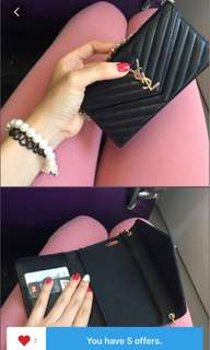 Ysl mini calf leather iPhone 6/6s case with card(vip gift)