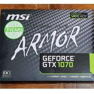 🚚 GeForce GTX 1070 Armor - warranty by Corbell until 2020