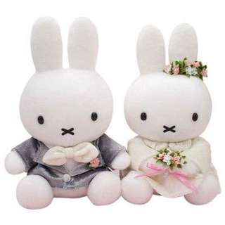 🚚 Miffy wedding couple soft toy