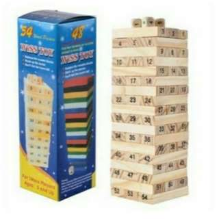 Wooden jenga Stack Blocks Puzzle