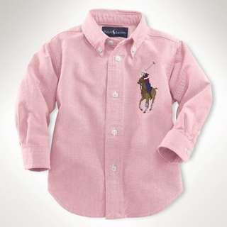Polo Long Sleeve Shirt - Pink