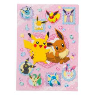 Pokemon Center Exclusive Pikachu and Eevee A4 Clearfile (Pre-Order)
