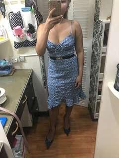 Blue mermaid style dress