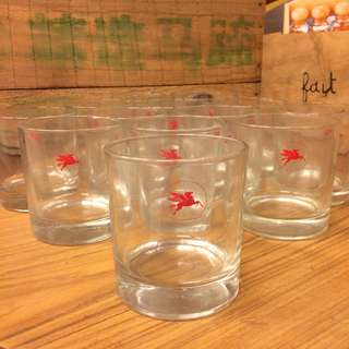 Vintage Mobil Whiskey Glasses