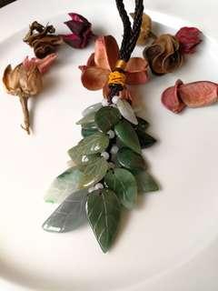 $48 Fixed Sales Type A Jadeite Jade Leaf Design Display