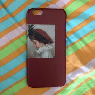 iPhone 6/6s 紅色小女孩Case (磨紗硬殼)