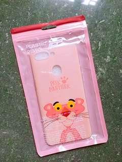 oppo r15 (夢鏡版)粉紅豹卡通手機殻