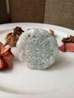 $38 Fixed Salea Type A Natural Jadeite Jade Five Pi Xiu Hollow Carving Pendant