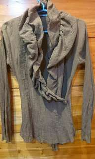 FOLDED & HUNG long-sleeved top