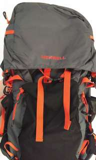 Merrell trekking backpack 40L with raincover