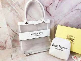 Burrberys transparent/ sheer bag with pouch