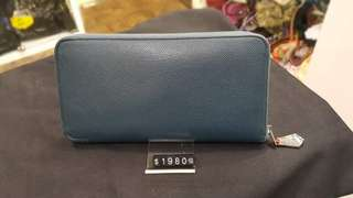 Hermes silk long wallet