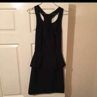 Kookai Black Peplums Dress