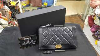 新淨 Chanel long wallet full set