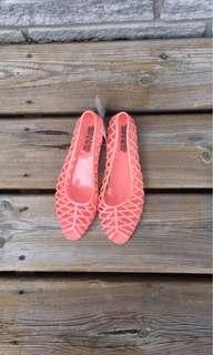 American Apparel Jelly Waterproof Flats Sandals