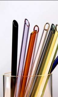 Lifetime Reusable Glass Drinking Straws