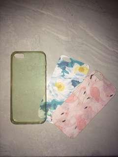 softcase iphone 5 warna biru + 2 papercase