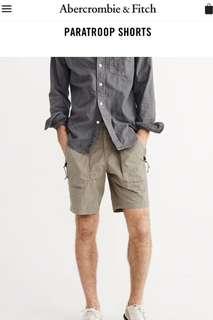 🚚 Abercrombie & Fitch Paratroop Shorts 工作短褲 (男)