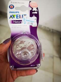 Philips Advent Natural variable flow teats 3m+