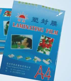 A4 laminating film pouches