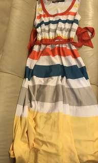 marc by marc jacobs Rainbow Dress 彩虹 連身裙 長裙 (剪標款)