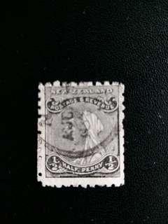 英屬新西蘭郵票 早期维多利亞女皇像已銷郵票 A011