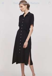 Our second nature button down midi dress