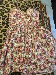 Paper and scissors floral dress