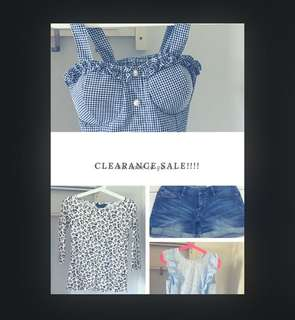 Clearance!!!