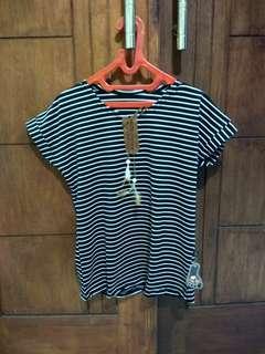 Baju atasan blouse salur wanita