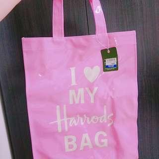 🚚 harrods bag PVC環保防水購物袋單肩手提女包