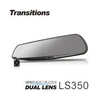 (送16G卡)後視鏡GPS測速雙鏡頭   全視線 LS350 GPS測速 1080P雙鏡頭行車記錄器