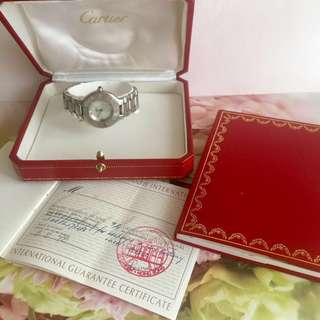CARTIER WATCH IN CERTIFICATE AND BOX PAPERBAG