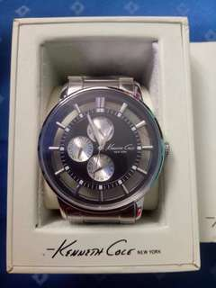 Kenneth Cole Black Dial Transparent watch