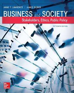 eBook: Business and Society: Stakeholders, Ethics, Public Policy (15th Edition)