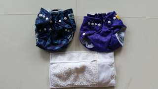 Almost New Bumwear one size cloth diaper