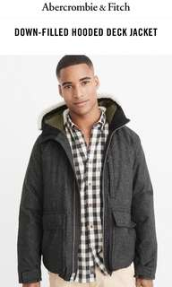🚚 Abercrombie & Fitch 羽絨連帽外套 AF Down-filled Hooded Deck Jacket