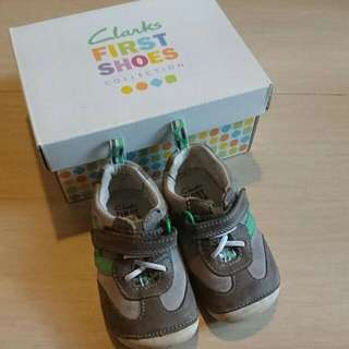 Clarks Leather Comfortable Shoes Baby Boy Play Cruiser UK4 EU20