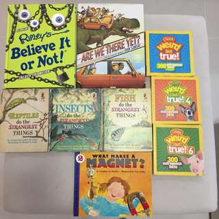 9 children's science books, NatGeo, Ripley's, etc