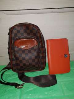 LV Belt Bag with Hermes Wallet