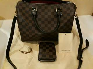 Louis Vuitton speedy 30 bandoulier with wallet