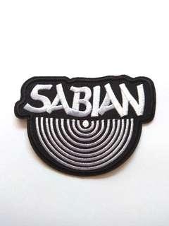 Sabian Logo Cymbals Music Iron On Patch