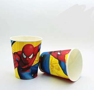 Superheroes Premium range Spiderman party supplies- party cups