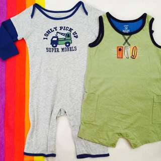 Branded Onesies - 6-12 Months - Set of 2