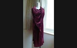 🚚 CHARINYEH葉珈伶 絲質 垂墜領 絲絨禮服洋裝